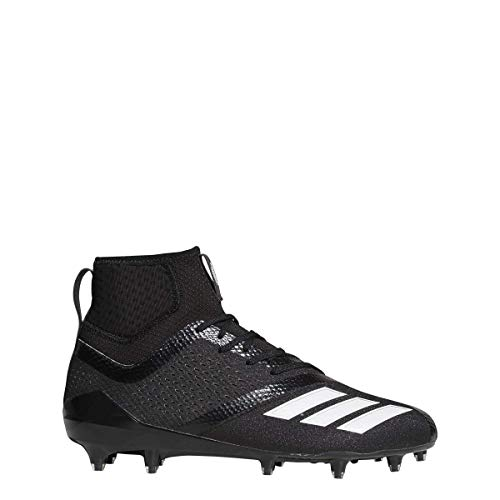 adidas Adizero 5Star 7.0 Mid Cleat Men's Football 8.5 Black-White