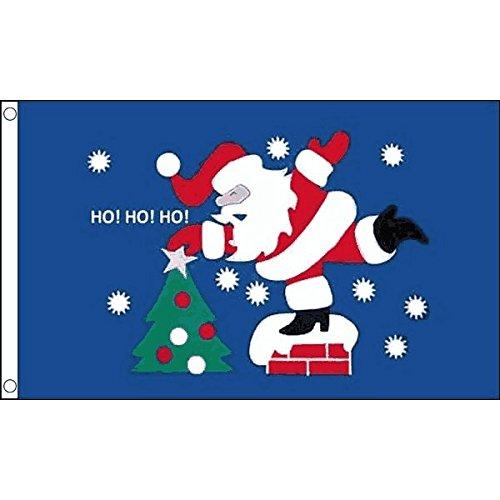 AZ FLAG Bandiera Babbo Natale Ho Ho Ho 150x90cm - Bandiera Santa Christmas 90 x 150 cm
