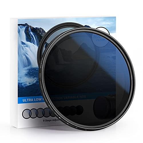 Neewer 67mm-MRC-ND-Filter, einstellbare Variable neutrale Dichte Filter ND2-ND400, Multi beschichtete optische Glas, wasserabweisender und kratzfester Ultra schlanker Filter für 67mm-Kameraobjektive