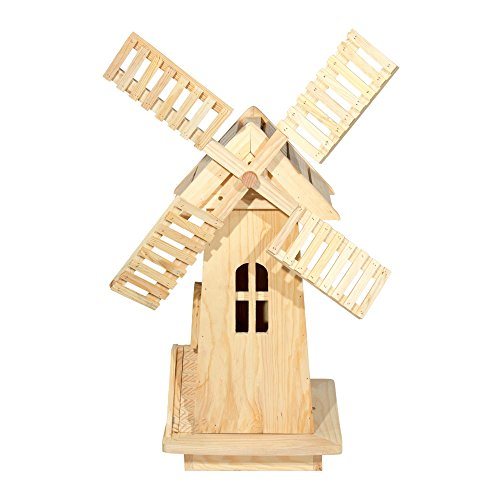 Shine Company Inc. 4955N Decorative Windmill, Natural
