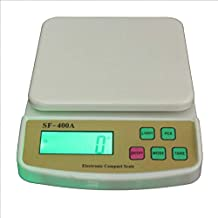 JAPP 10 Kg Digital Electronic Multi-Purpose Kitchen Weighing Scale, SF-400 (Multicolour)
