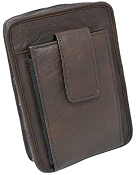 Garrison Grip Cowhide Leather OWB CCW Cell Phone Belt Pack Fits S&W Bodyguard Ruger LCP,LCPII and Smaller Guns  Brown