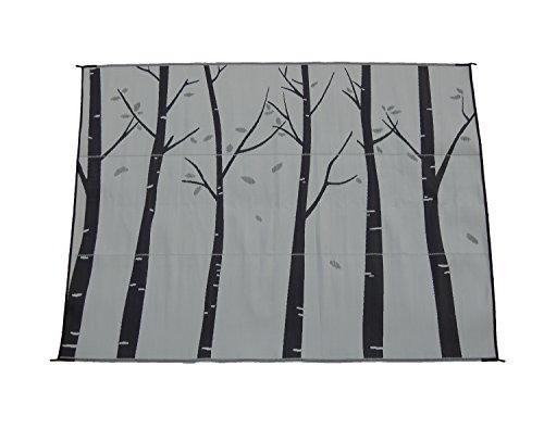 Snowbird Light Reversible Mat-Forest 9 ft. x 12 ft. (Silver)