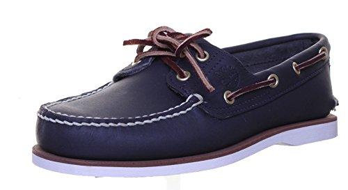 Timberland Herren klassische 2 Eye Bootsschuhe, Blau (MD Full Blue Grain), 44 EU