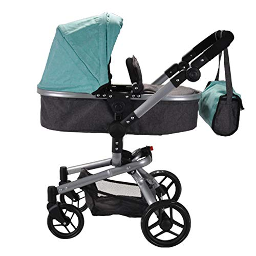 Puppenwagen Classic Angel 2in1 (Minze - Grau)