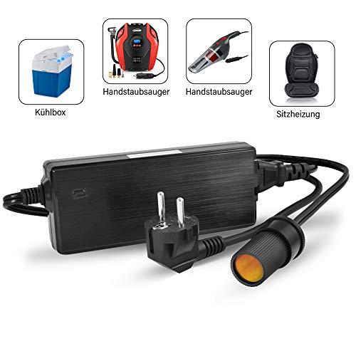 LEICKE KFZ Netzteil Stromwandler Gleichrichter 120W | TÜV |12V 10A AC DC mit Zigarettenanzünderbuchse | KFZ Netzadapter Spannungswandler 230V auf 12V