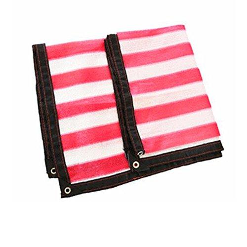 DUO Voiles d'ombrage Sun Shade tissu Rouge Rectangle Extérieure Tissu Tissu Pergola Couverture UV Bloc Tissu - Taille Personnalisée Disponible pour plante et fleur (Color : Red, Size : 5×9M)