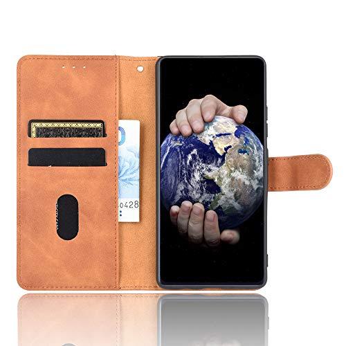 Dhongf Fundas para Samsung Galaxy M32 Funda Móvil Samsung Galaxy M32 Magnetica Hebilla Antigolpes Funda con Solapa para Samsung Galaxy M32 Marrón