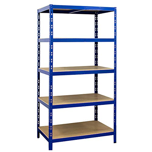 Certeo scaffale per carichi pesanti | 180x90x60cm | 265 kg per ripiano | Profondità 60cm | Carico totale 1325 kg | Scaffalature metalliche industriale officina garage magazzino