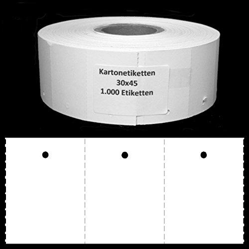 Endlosetiketten 30x45mm blanco 1.000 Stk/Rolle