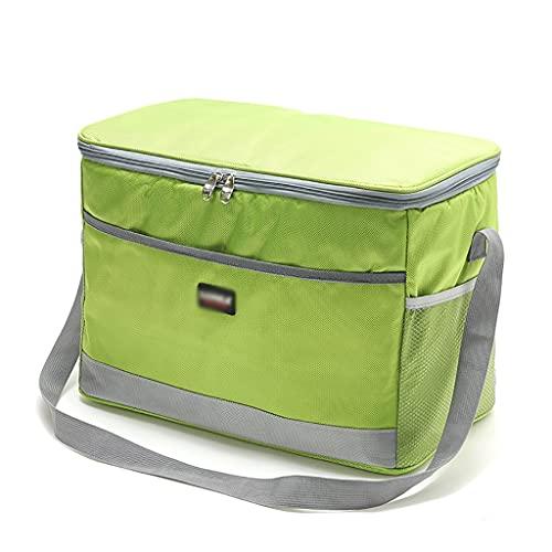 ZZL Bolsas de Enfriador de Picnic 25L Bolsa de Compras Aislada con Correa de Hombro Portátil para Hacer Picnic Playa Trabajo de Viaje de Campamento (Color : Green)