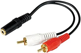Luxtronic 6 Y Cable, 1/8 Female to 2-RCA Males