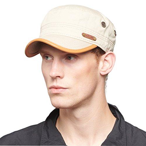 CACUSS Herren Militär Armee Kappe Einstellbar Kadett Baseball Cap