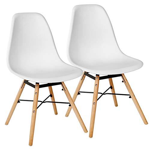 Kingpower 2/4/6/8 Set Stühle Esszimmerstühle Küche Stuhl 4 Farben Retro, Auswahl:2 Stühle - weiß