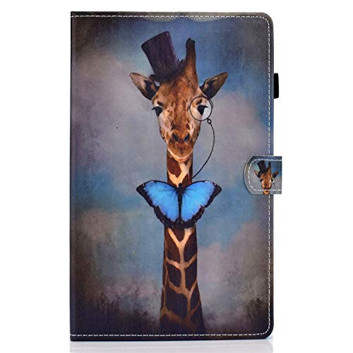 zl one Compatible con/reemplazo para Tablet PC Samsung Galaxy Tab A 10.1 'SM-T580/T585 PU cuero Flip Cover Stand Magnetic Wallet Case (Giraffe)