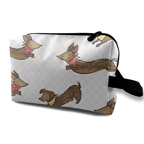 Hotdog Ketchup Pattern Storage Bag Hand Bag Storage Capacity Bags