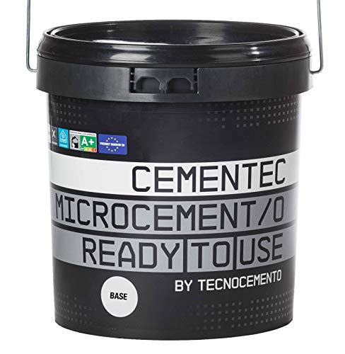 CEMENTEC Microcemento listo al uso BASE Ready to use (12 kg, Gris stromboli)