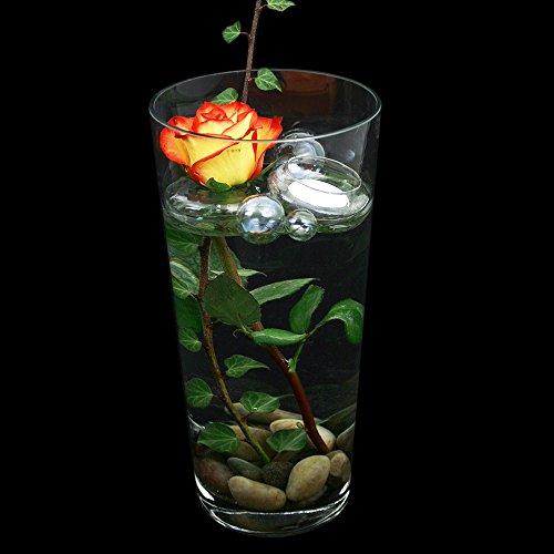 Glazen vaas, conische cilinder, helder. Hoogte 30 cm Ø 16 cm. Klassieke vorm als bloemenvaas of decoratieve ovase.