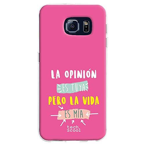 Funnytech Cover iPhone 7 Custodia in Silicone (TPU) per iPhone 7 [Design Esclusivo, Stampa ad Alta Definizione] [Frase Amor Haces Que Me derrita Fondo Morado]
