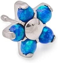 Painful Pleasures 18g, 16g or 14g Titanium Opal Flower Push Pop Top — Price Per 1