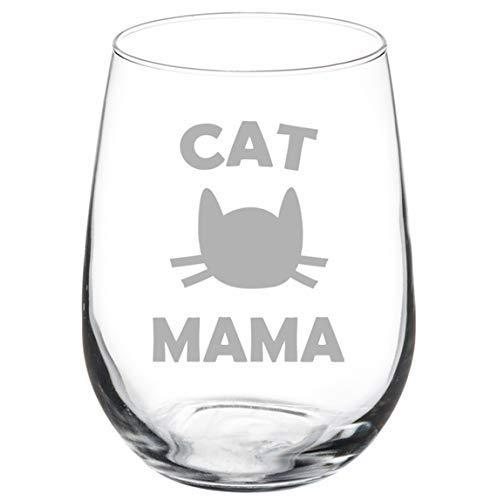 Copa de vino Cat Mama 11 oz sin tallo