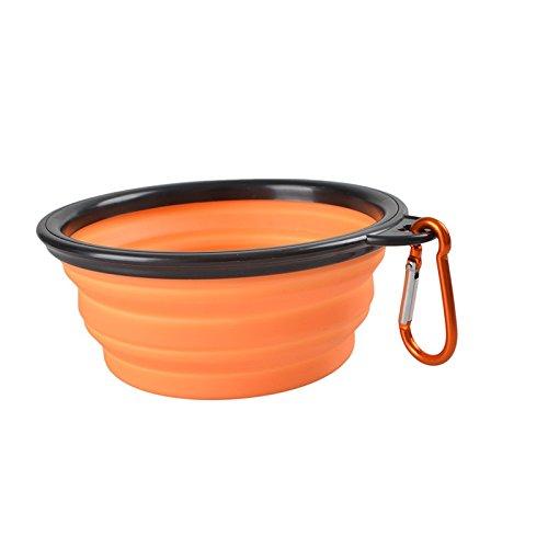 Homgaty Bol à eau et nourriture, pliable, portable avec mousqueton Gamelle pour chien, d'extérieur, de voyage