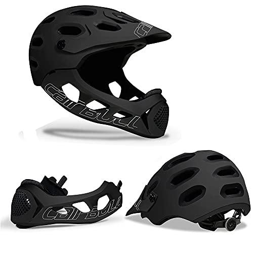 Casco de ciclo de cara completo, casco de bicicletas de la montaña Casco desmontable, LNTEGRAL MTB Sport Sport Safety Cascos de seguridad adecuados para la protección del conductor al aire libre