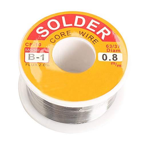 Filo per saldatura, senza piombo (100 g) Saldatura Tin Roll con colofonia Nucleo Sn97,3% Rosin2% Cu0,7% per saldatura elettronica (1,5 mm)