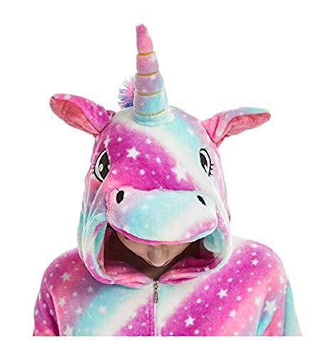 FMDD Pyjama Licorne Enfants Kigurumi Pyjamas Enfants De Cosplay Onesies Licorne Costume (E - Licorne Purple, 140 / Hauteur 136-145cm)