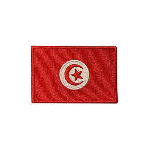 Parche bordado con la bandera de Túnez para coser o planchar, para ropa, etc.