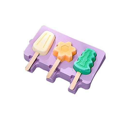 OTTF 3 in 1 Ice Pop Maker Ice Cream Mold with Lid, Food...