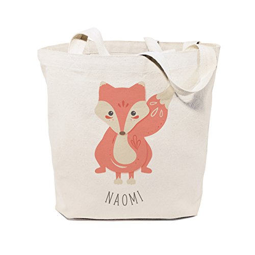 The Cotton & Canvas Co. Personalized Fox Tote and Handbag for Kids and Teens