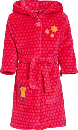 Playshoes Mädchen Fleece MAUS pink Bademantel, 146/152