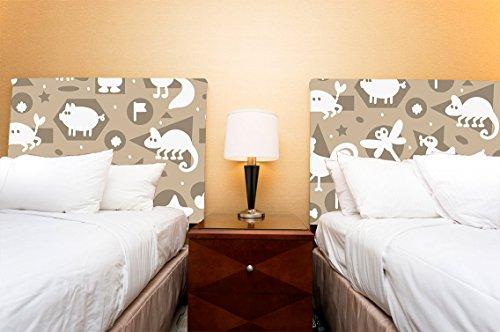 Cabecero Cama PVC Infantil Animales | Varias Medidas 115x60cm | Facil colocacion | Decoracion Habitación | Motivos paisajisticos | Naturaleza | Urbes | Multicolor | Diseño Elegante |