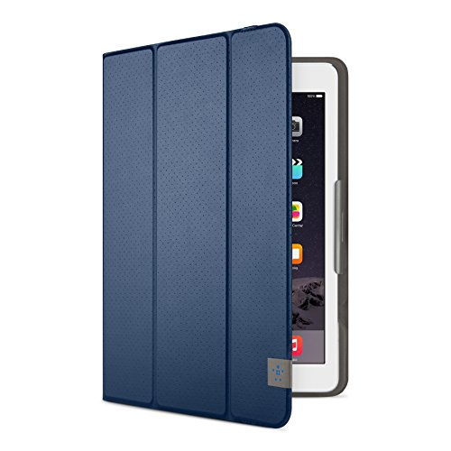 Belkin Perforated TriFold Folio Case with Multiple Viewing Angles for iPad Air/iPad Air 2/iPad 2017 - Deep Sea Blue