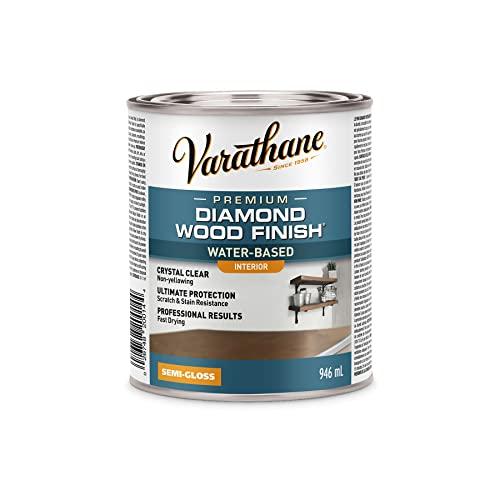 Varathane 200141H Water-Based Ultimate Polyurethane, Quart, Semi-Gloss Finish, 32 Fl Oz