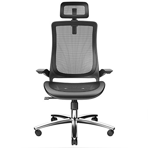 Ergonomic Office Chair with Breathable Mesh Seat -Computer Chair with Adjustable Seat Height and Back Recline - Desk and Task Chair with Firm Arm Rests (Sturdy Chair)