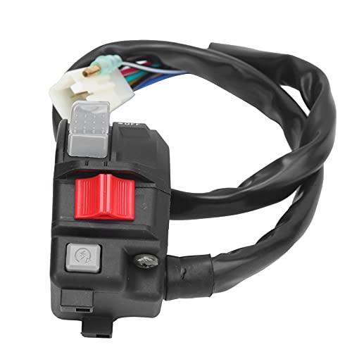 Interruptor del manillar Manillar de motocicleta Botón de encendido y apagado Run Start Stop Control de faros ATV Reemplazo de accesorios para Wolverine/Warrior 350