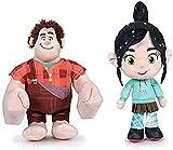 Famosa - Pack 2 Peluches de la película Ralph rompe Internet: Ralph, el demoledor + Vanellope, 17 centímetros / 6'69'' Calidad Super Soft