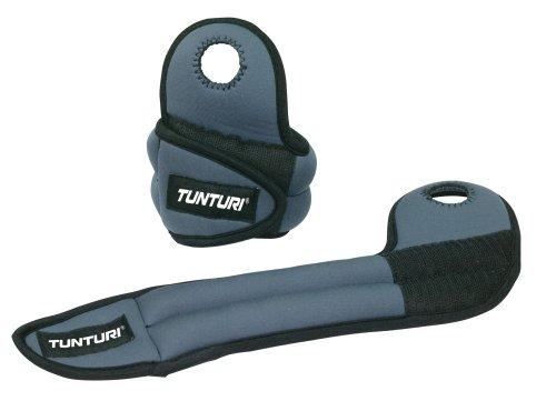 Tunturi - Handgelenkmanschetten für Krafttraining in grau, Größe 2 x 1,0 kg