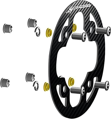 hksod Fahrrad Kettenschutz 104BCD MTB Kettenschutzring 4 Löcher Kettenschutzscheibe für 34-38T Fahrräder, Mountainbikes