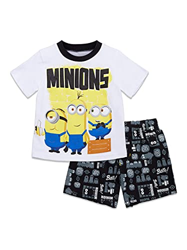 Despicable Me Minions Toddler Boys T-Shirt and French Terry Shorts Set 4T