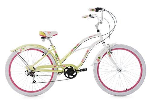 KS Cycling Beachcruiser 26'' Paradiso weiß-grün 6 Gänge RH 42 cm