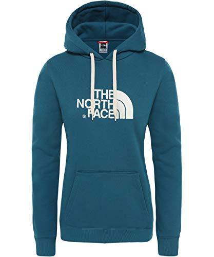 The North Face Drew Peak Sudadera, Mujer, Gris (TNF Medium Grey Heather/Vintage White), XS