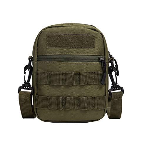 TAMALLU Herren Umhängetasche Umhängetasche Patchwork Umhängetaschen Oxford Rucksack Mode Bag(Grün)