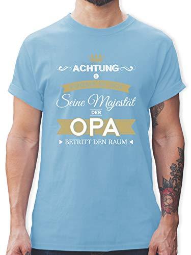Opa - Seine Majestät der Opa - M - Hellblau - Shirt Bester Opa - L190 - Tshirt Herren und Männer T-Shirts