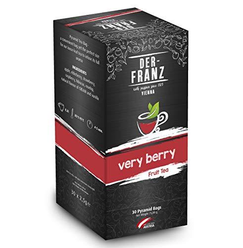 """Der-Franz Früchtetee """"Verry Berry"""" in Pyramidenteebeuteln, 30Teebeutelnx2,5g"""