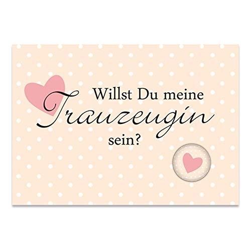 lijelove® Postkarte & Magnet I DO Willst Du Meine Trauzeugin Sein? (Art. PK016)