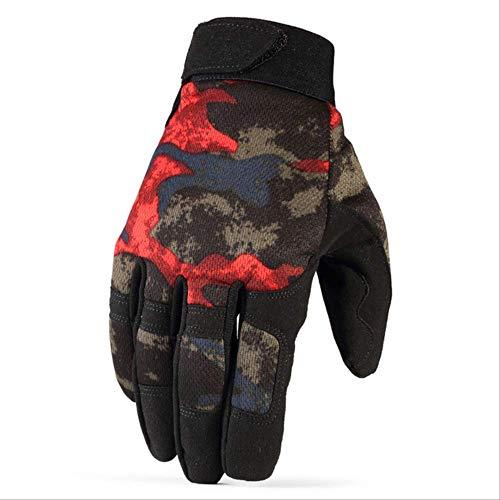 AMZIJ GlovesTactical Gloves Rutschfeste Army Military Fahrrad Airsoft Motocycel Schießen Paintball Arbeitsausrüstung Camo Vollfingerhandschuhe Men S Camo Red