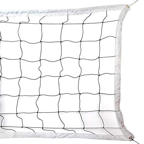 BlesMaller Volleyballnetz, Tragbare & Faltbare Langlebiges Volleyball Trainingsnetz für Outdoor Sportarten Im Hinterhof, Park, Strand und Anderen Außenanlagen(9.5m x 1m)